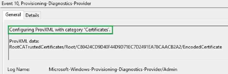 Provisioning-Diagnostics-provider Root CA