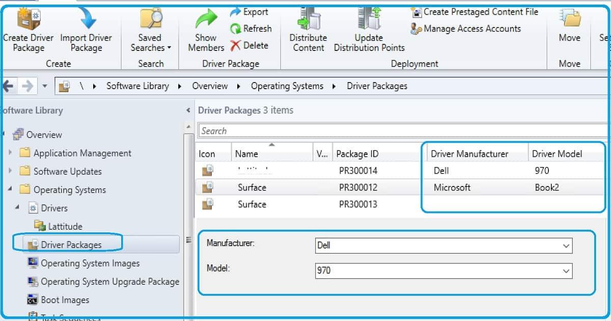 SCCM 1810 Improvements - Driver Manufacturer Driver Model