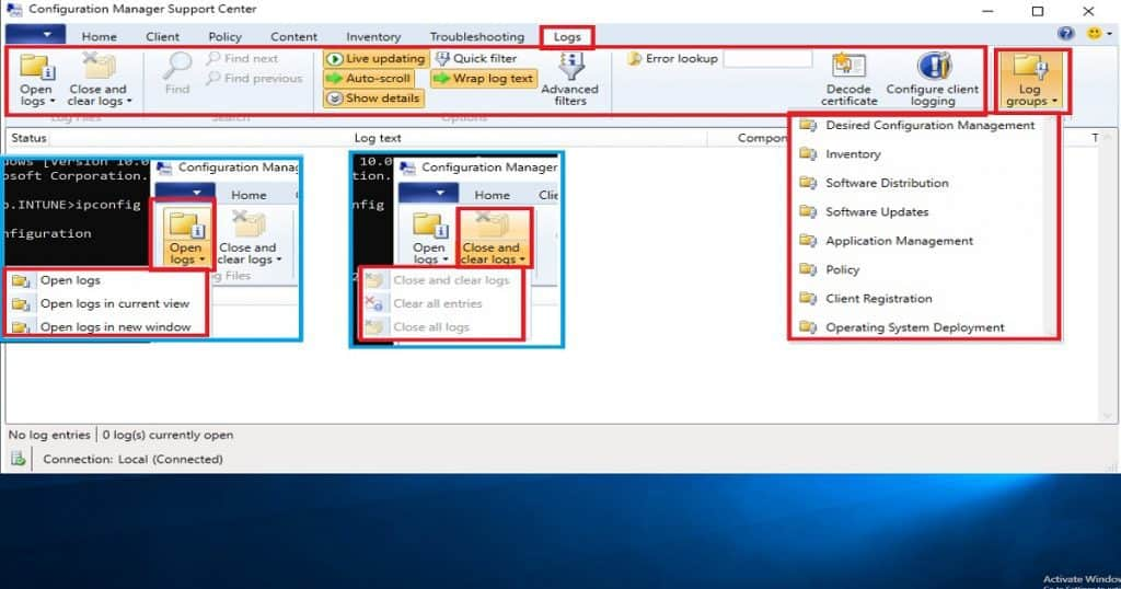 SCCM Troubleshooting Tool -Support Center  ConfigMgrSupportCenter.exe 8