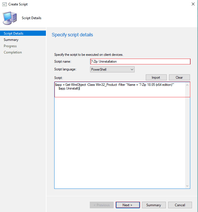 SCCM create Run PowerShell Scripts