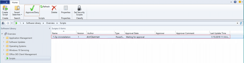 SCCM Run Script Deployment Step by Step Guide - Uninstall 7Zip without Package 2