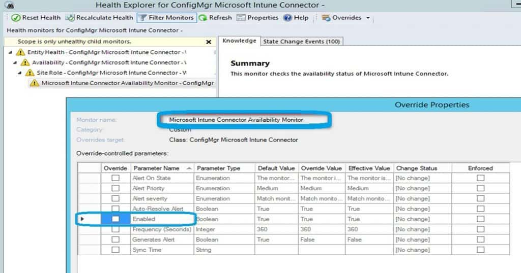 SCCM Management Pack Reduce Alerts