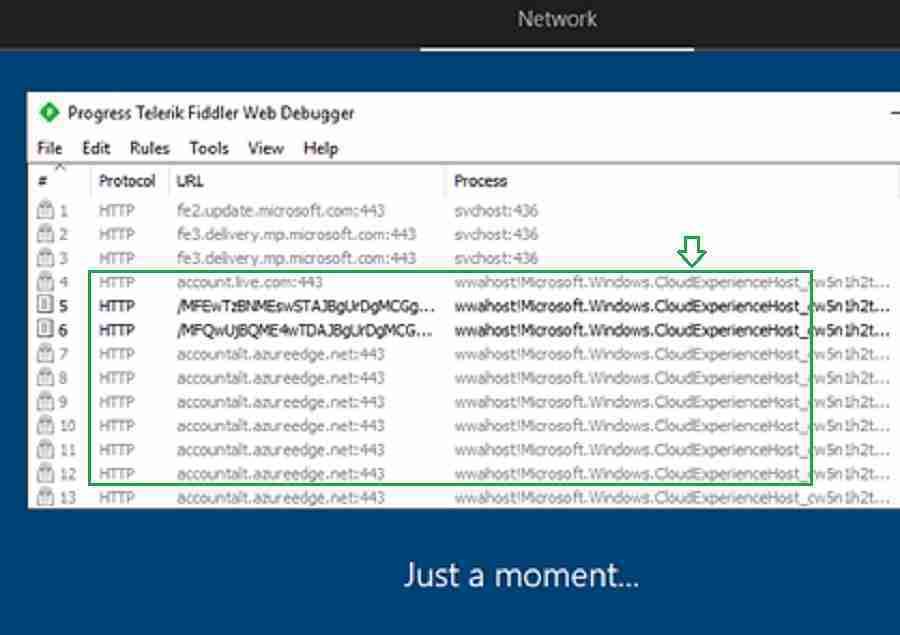 Autopilot network URL Fiddler - Windows Autopilot Troubleshooting