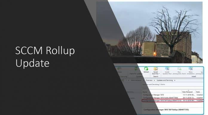 SCCM Rollup Update HotFix Install Home