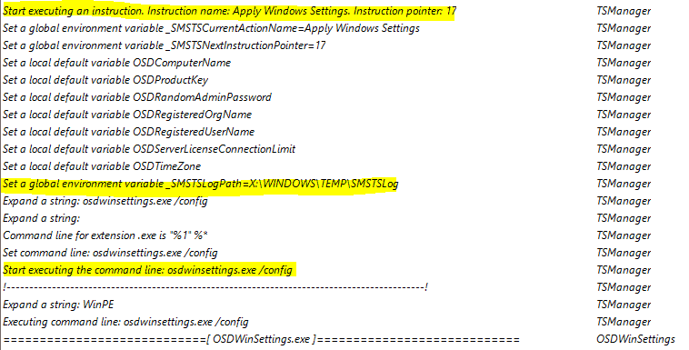 Start Executing an Instruction - SCCM Task Sequence Guide