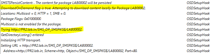 Download SCCM Client During OSD TS