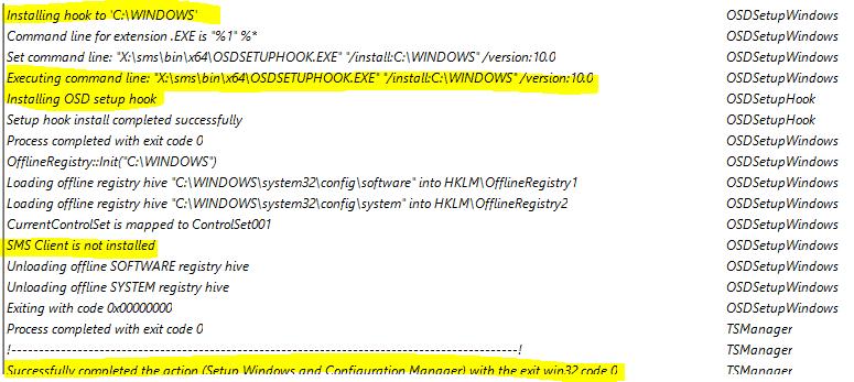 SCCM SetupComplete.CMD OSD TS