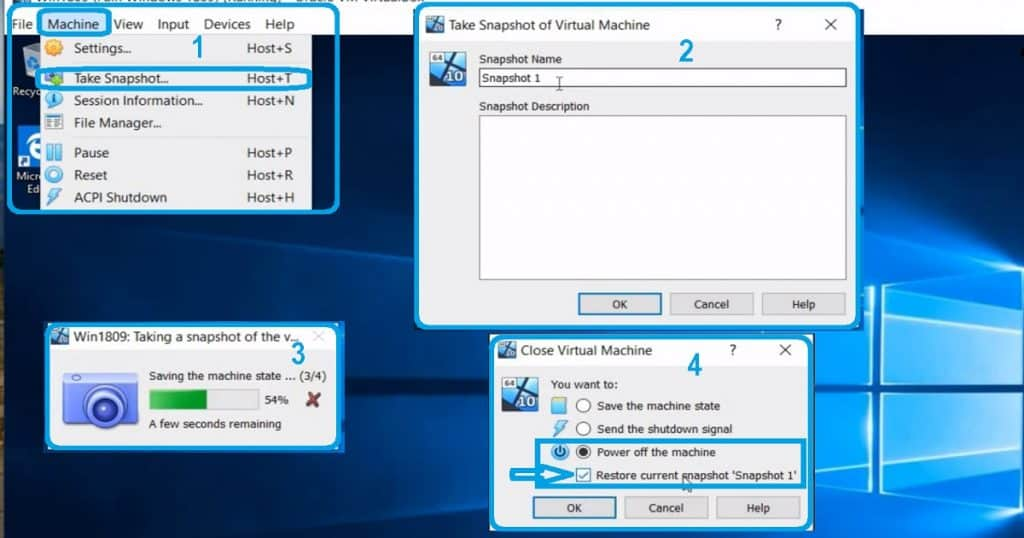 Oracle VirtualBox VM Snapshot - Setup Smart Package Studio