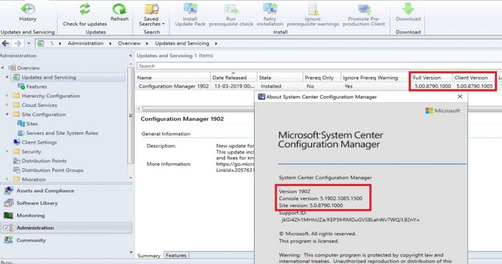 SCCM 1902 Console Client Site Full Version