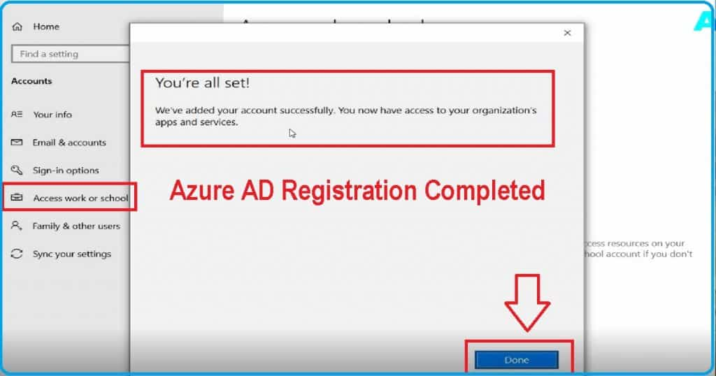 Windows 10 Intune Enrollment Azure AD Registration BYOD