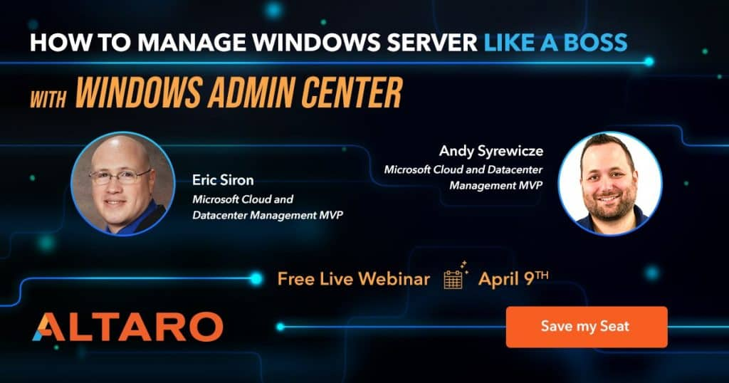 Windows Admin Center - Webinar