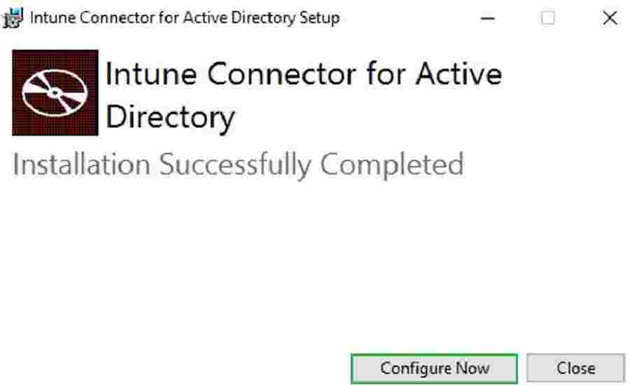 Intune Connector for Active Directory Installation
