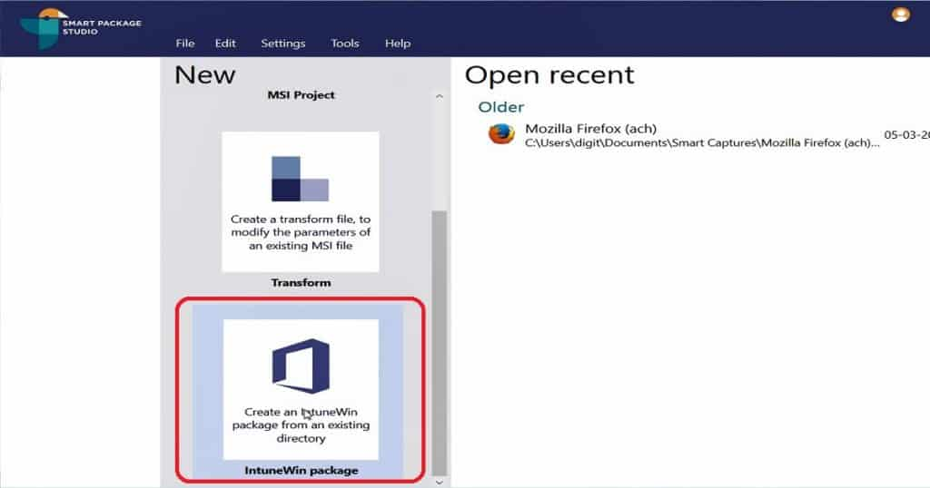 Intune Application Model IntuneWin Packages Creation GUI