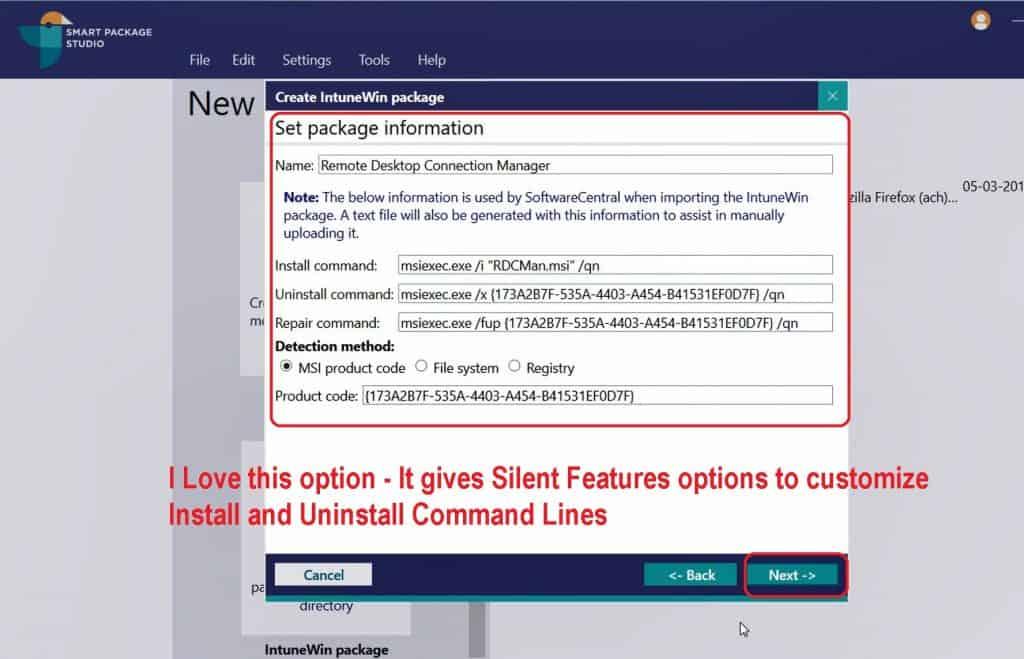 Convert MSI to IntuneWin Packages Smart Package Studio IntuneWin Tool 3