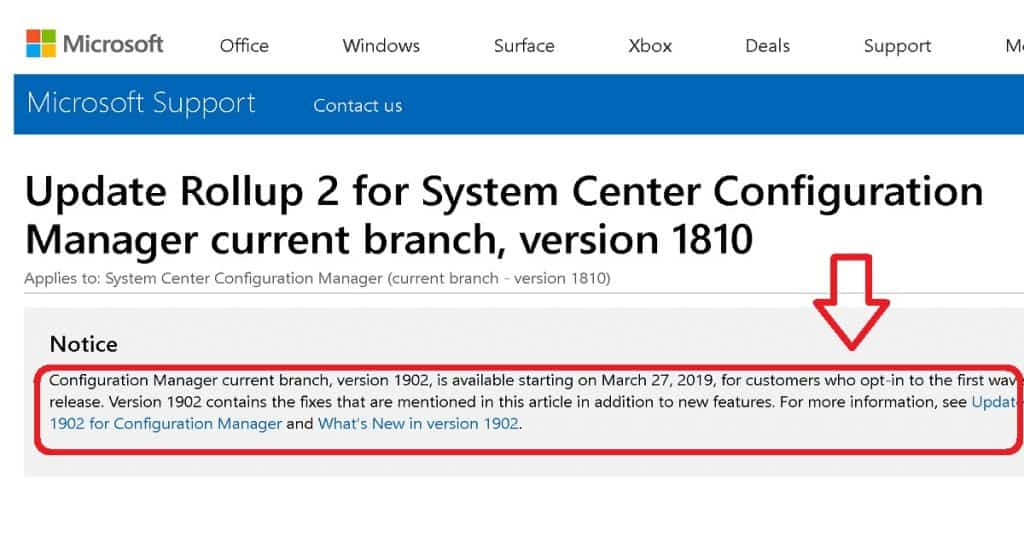 SCCM 1902 Known Issues List and Fixes 1