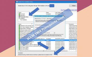SCCM 1902 Prerequisite Check Failed Error NAP Policies