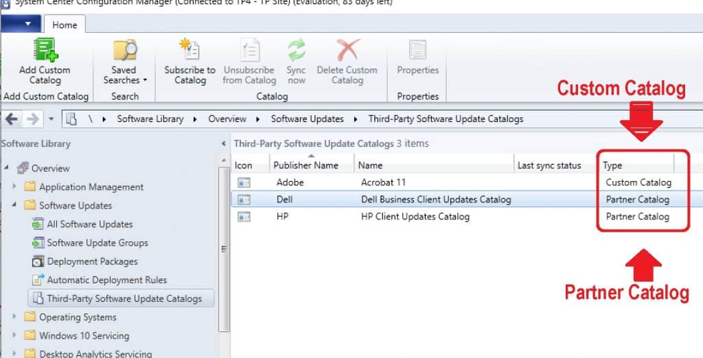 Custom Vs Partner - Free SCCM catalogs