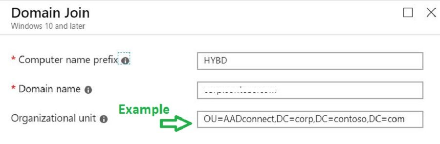 Domain Join profile Windows Autopilot - Windows Autopilot Hybrid Azure AD