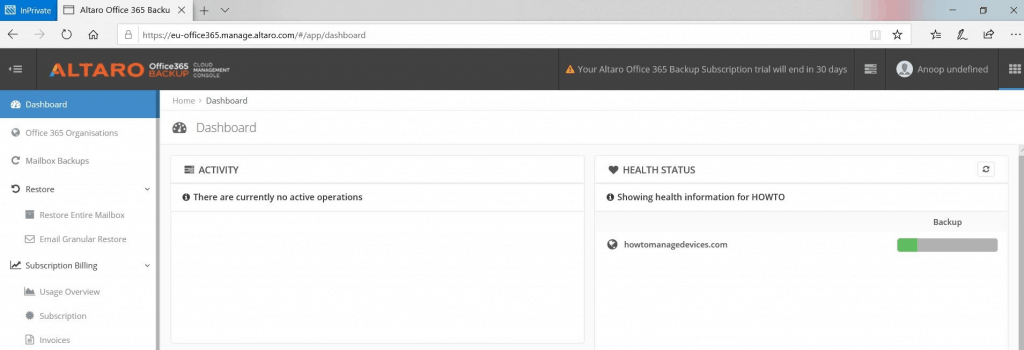 Altaro Office365 Backup - Restore Microsoft Office 365 mailboxes