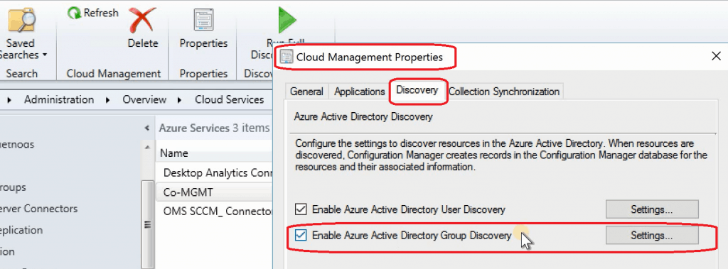 SCCM 1906 New Features - Azure AD User Group Discovery