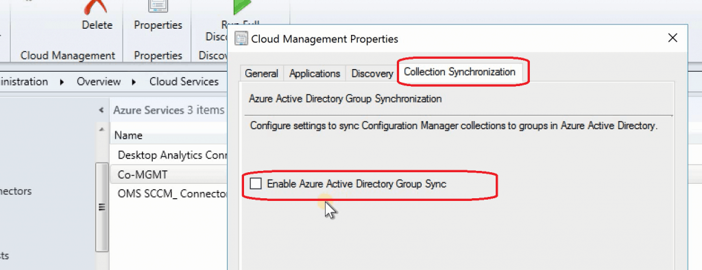 SCCM 1906 What is New - Enable Azure AD Group Sync