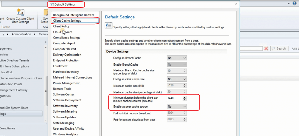 SCCM 1906 What's New - Enable as peer cache source