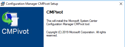 SCCM 1906 CMPivot.MSI A Standalone tool for helpdesk and security teams