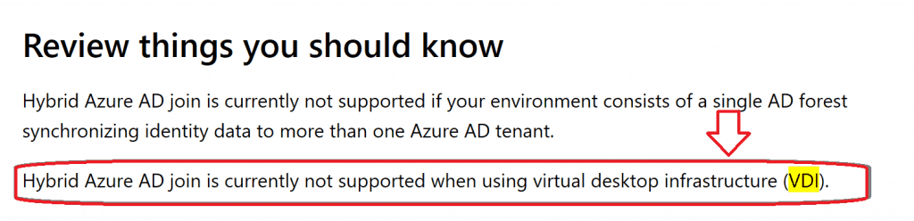 Azure AD and Hybrid AD Support -  SCCM Intune VDI Support
