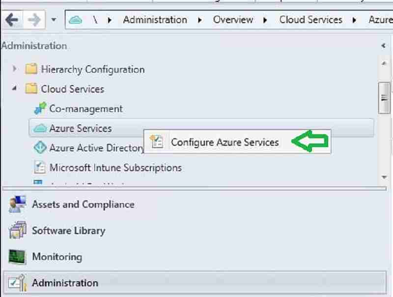 Azure Services SCCM