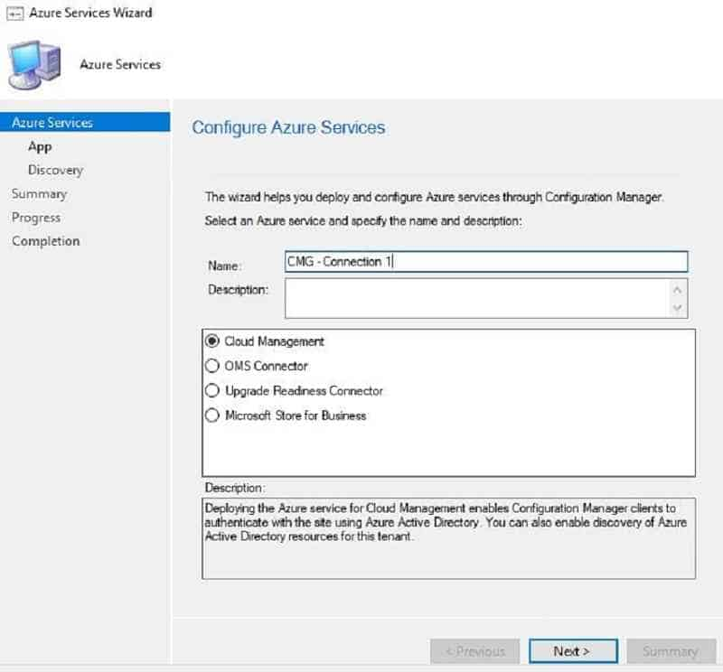 Azure Services cloud management - New SCCM CMG Setup Guide
