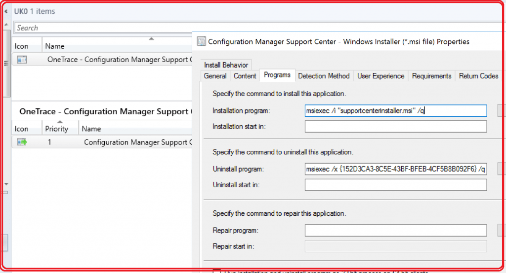 SCCM Onetrace Log file Reader - Application Deployment through SCCM