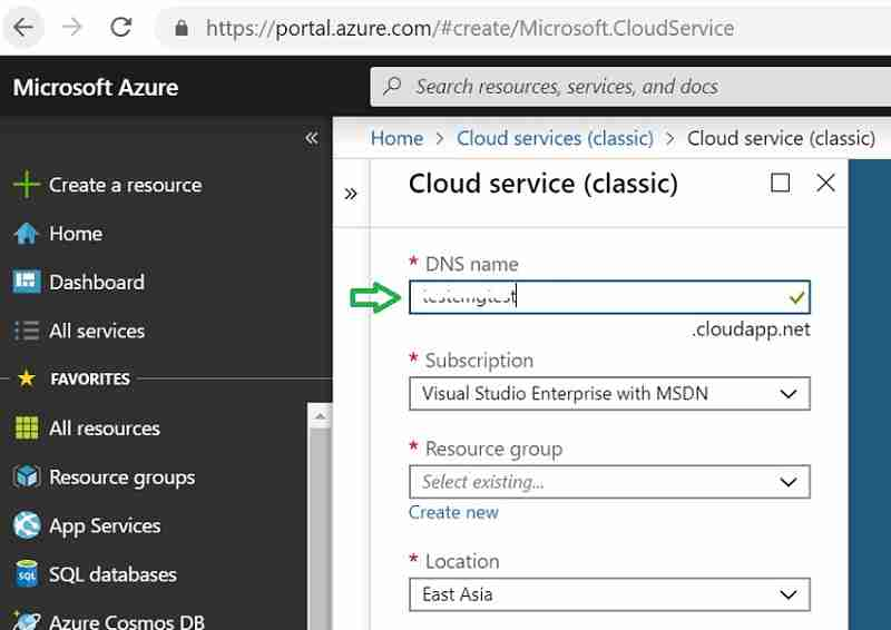 Cloud service Azure - New SCCM CMG Setup Guide