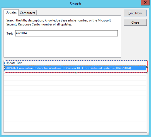 Patch Missing from SCCM How to Import into WSUS Manually 15