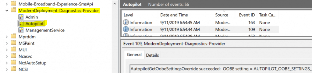 Windows Autopilot In-Depth Processes  - Autopilot Event Logs 2