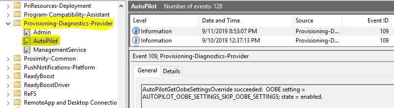 Windows Autopilot In-Depth Processes  - Autopilot Event Logs