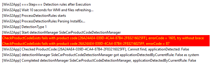 Intune Management Extension (IME) - Post Install Detection
