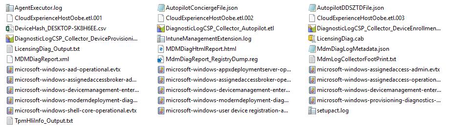 Diagnostic generated logs -  Windows Autopilot In-Depth Processes