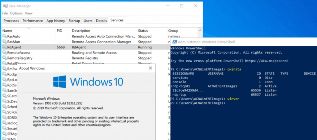 WVD Custom Image - WVD RD Agent is installed by default on Azure Windows 10 Multi-user and Enterprise Templates - WVD master image