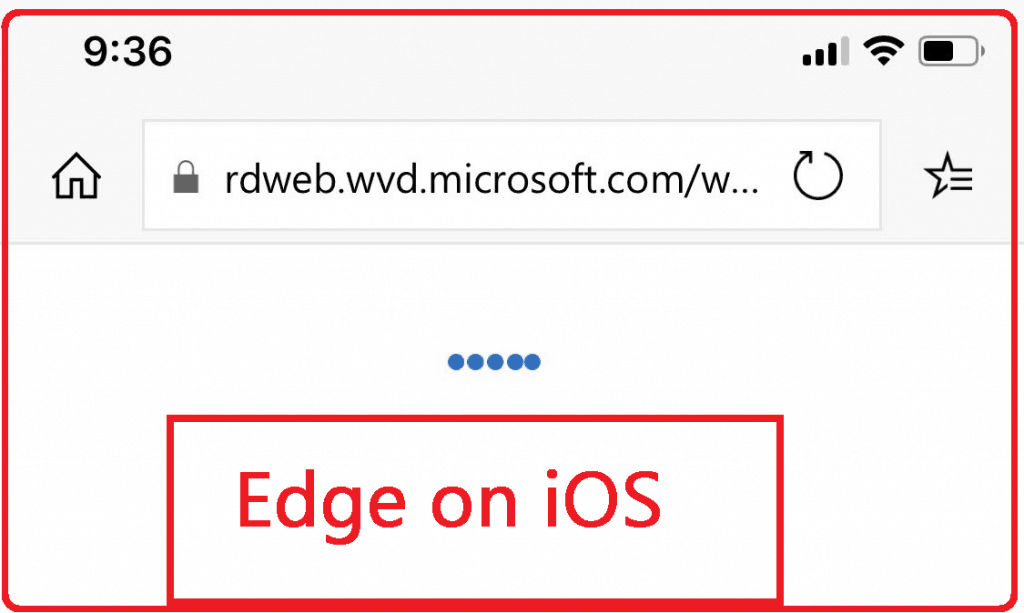 Microsoft Edge Browser on iOS 12 device - WVD Resource Access from Client