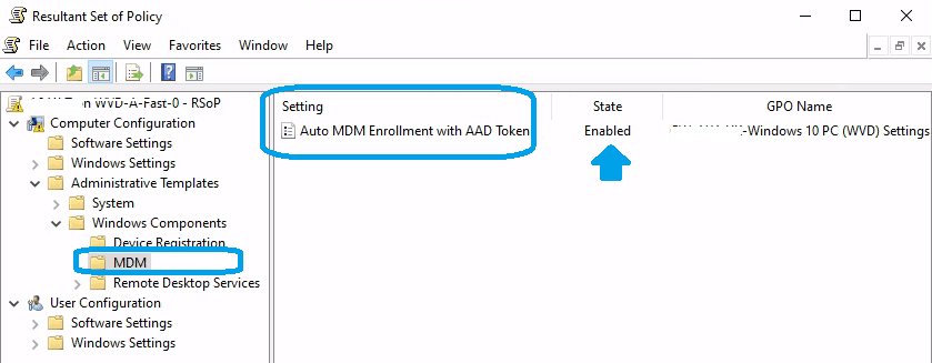 Auto AAD Registration Environment - Multi-Session Intune Hybrid Azure AD support