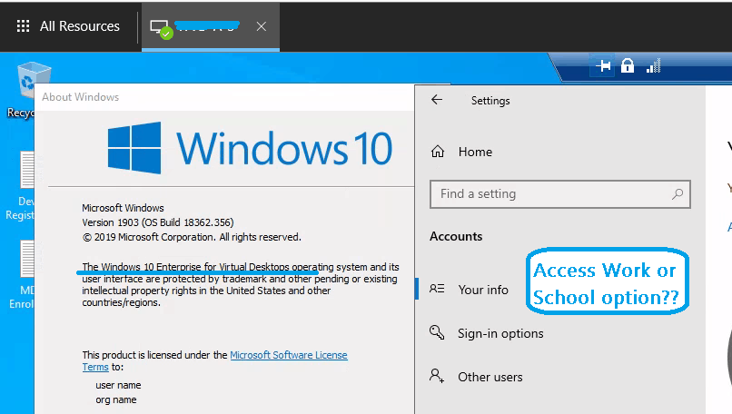 WVD Intune Support is available for Windows 10 Multi-Session | Windows Virtual Desktop | Endpoint Manager