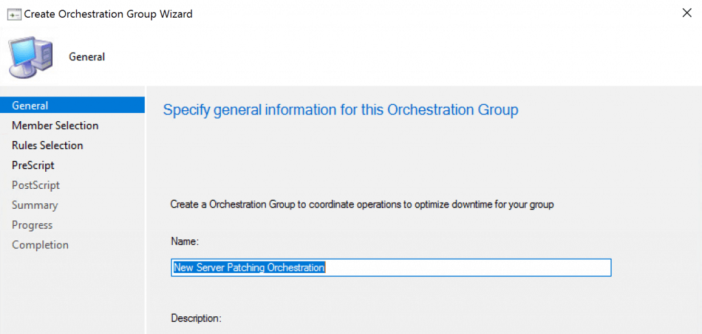 SCCM Orchestration Group
