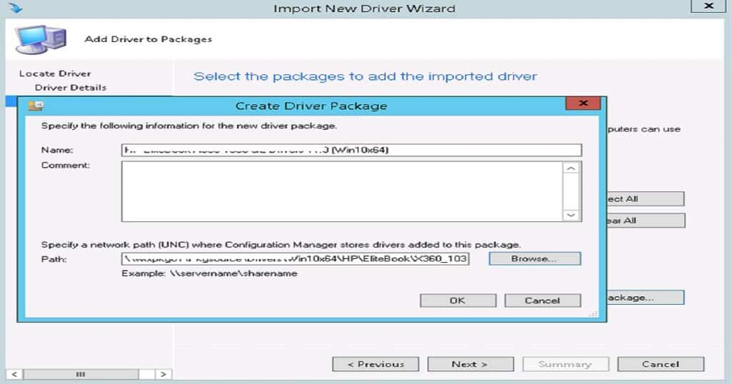 Driver Import - Driver Package Creation