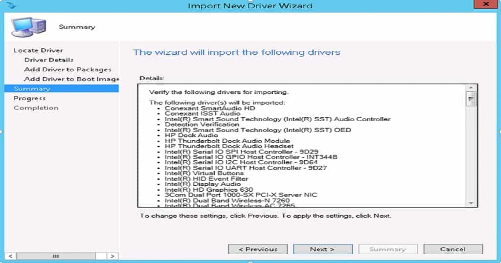 SCCM Driver Import - Driver Package Creation