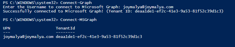 Intune Policy Assignment Classification- Connecting to Graph services from PowerShell