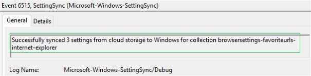 Enterprise state roaming event viewer