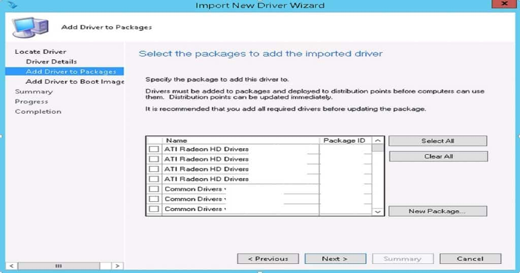 Driver Import -  SCCM Driver Import - SCCM Driver Package Creation