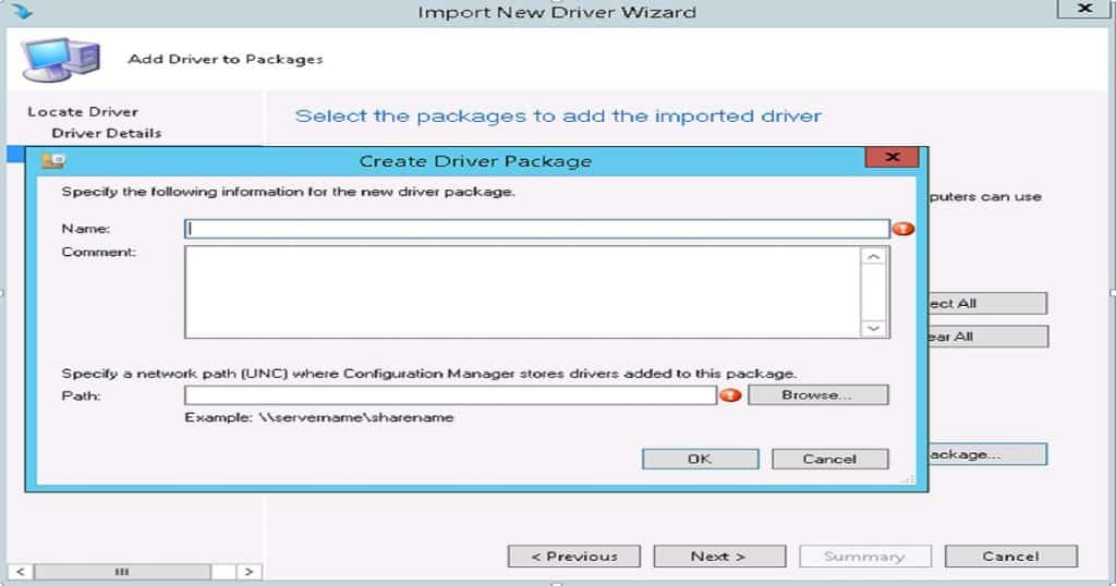 SCCM Driver Import -  SCCM Driver Import - SCCM Driver Package Creation