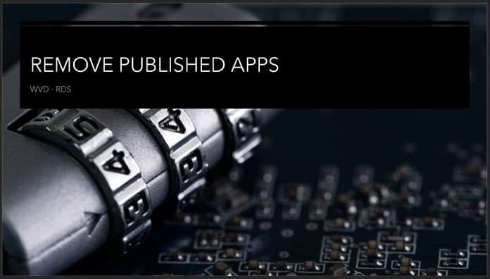 Remove Published Apps