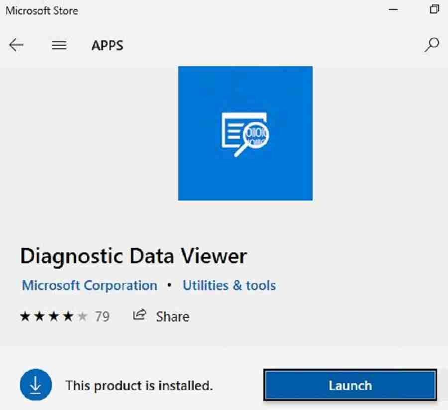 Diagnostic data viewer app from store -  Analyse Telemetry data using Windows Diagnostic Data Viewer